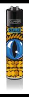 CLIPPER-R-Feuerzeug-Reptilian-Eyes-Blue