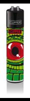 CLIPPER-R-Feuerzeug-Reptilian-Eyes-Red