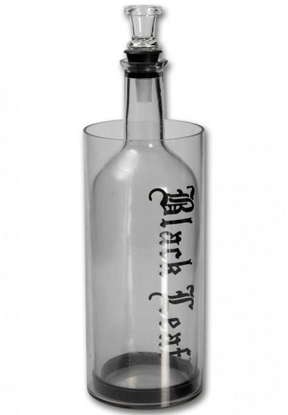 "Kooler ""Pumpgun"" (Black Leaf), Glas, Höhe ca. 33,5cm, Bong-Eimer"