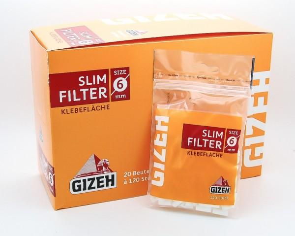 Gizeh Slim Filter sechs mm mit Klebefläche